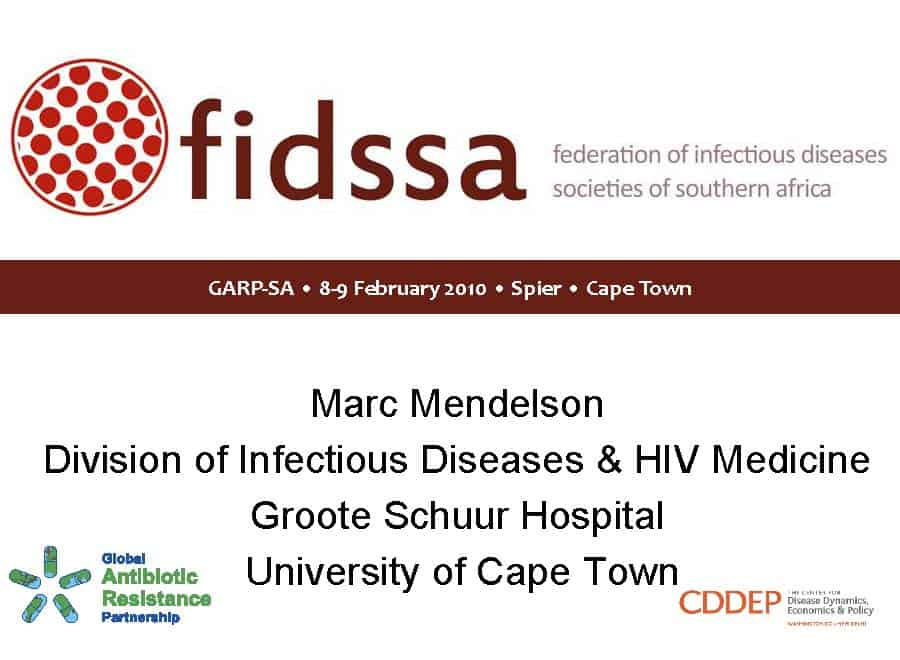 The Federation of Infectious Diseases Society of Southern Africa (FIDSSA): An Overview